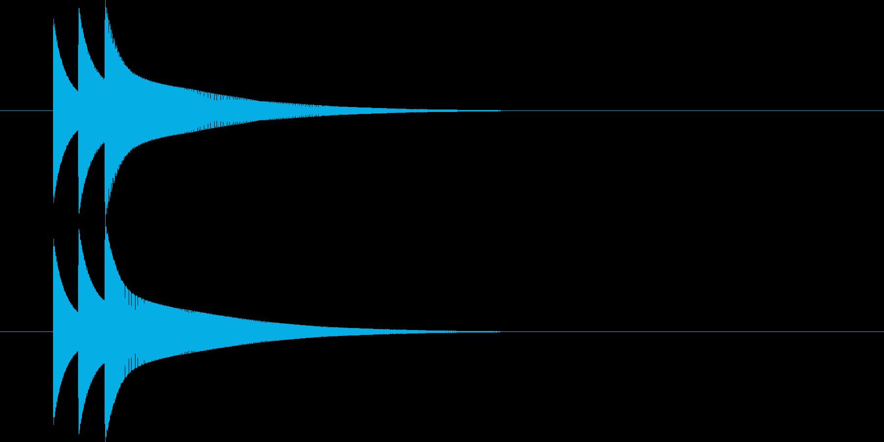ピコーン(ファミコン ゲーム音)の再生済みの波形