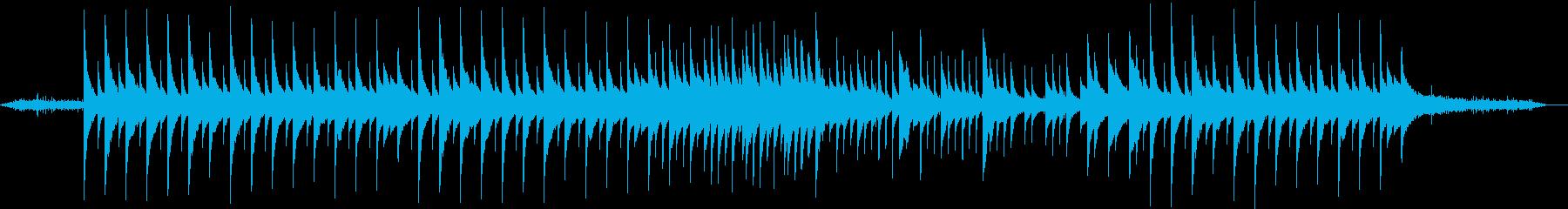 自然がイメージのしっとりしたアコギ楽曲の再生済みの波形