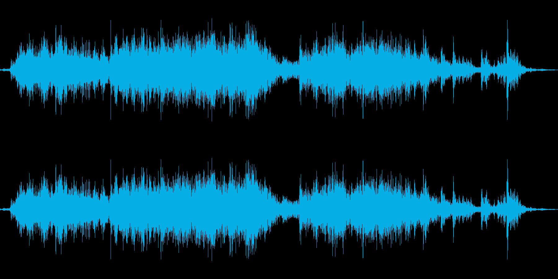 ガラガラ(くじ引きの音の再生済みの波形