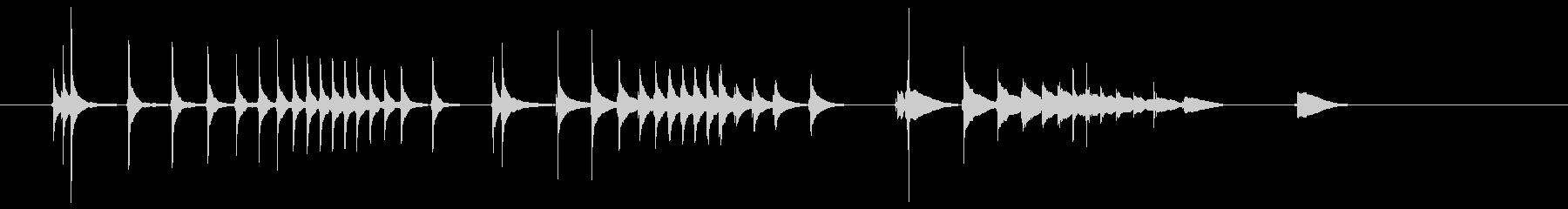 三味線10テテテテツツツツドドドド生音長の未再生の波形