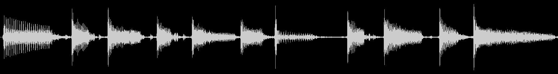 クールなスラップベースソロ素材の未再生の波形