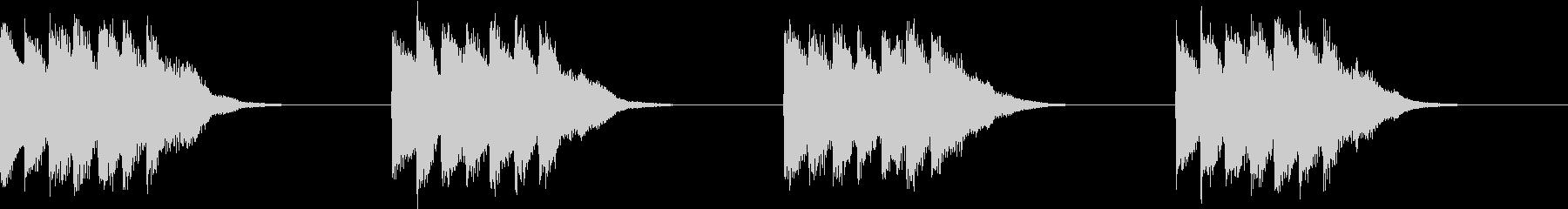 シンプル ベル 着信音 チャイム A-1の未再生の波形