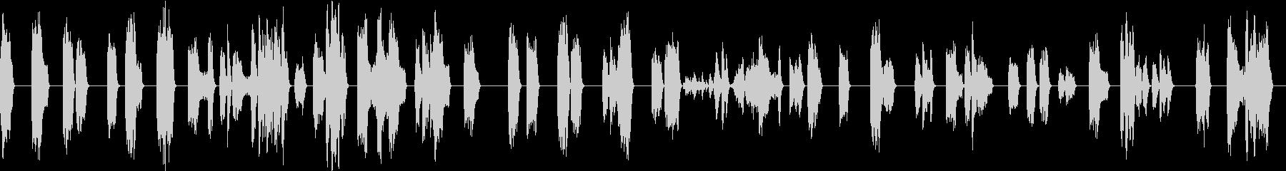 ひどく壊れた信号通信干渉の未再生の波形