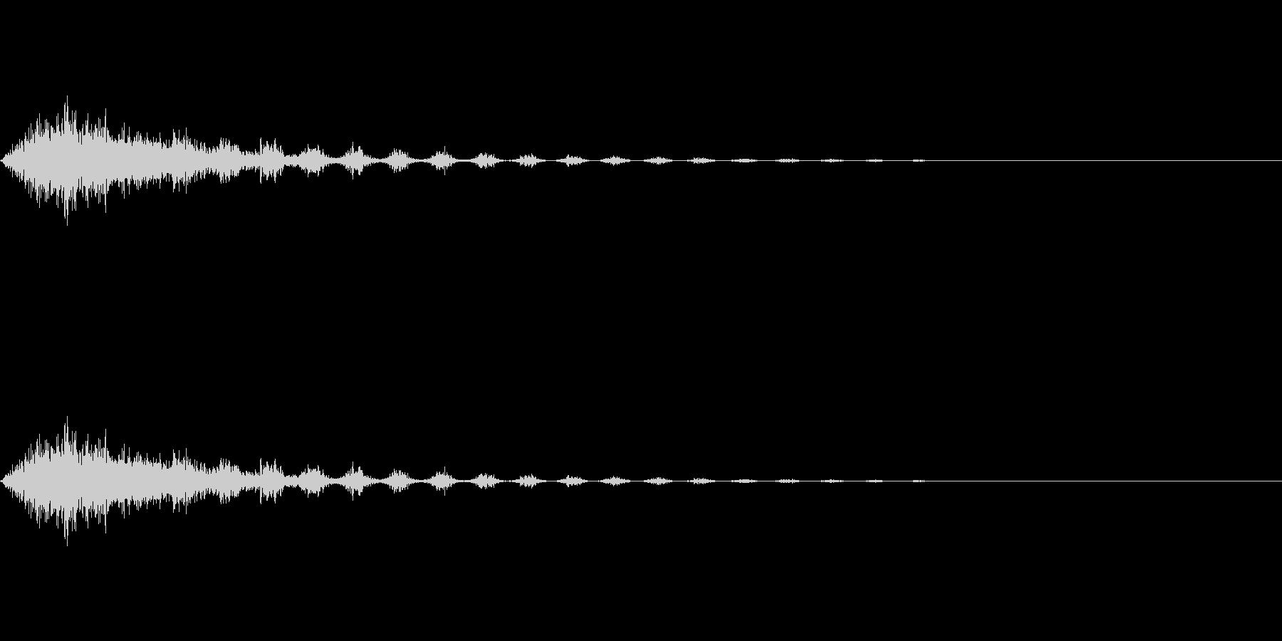 ダッシュ/移動/逃げる/コミカルの未再生の波形