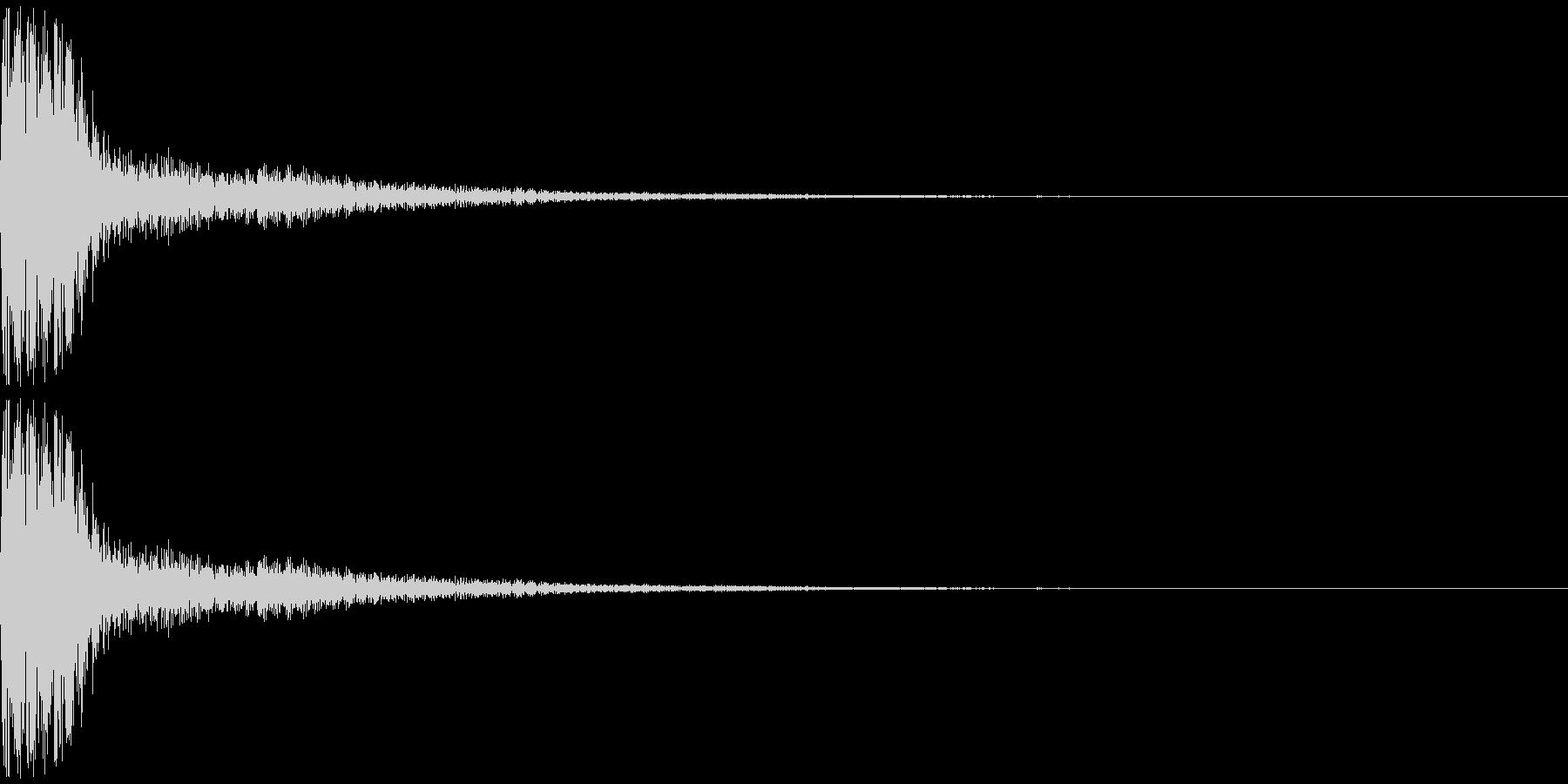 トゥンー(ピアノ系)の未再生の波形