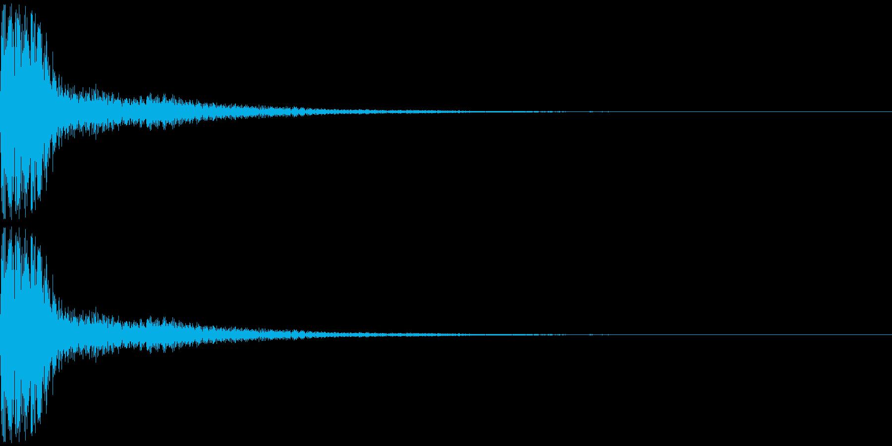 トゥンー(ピアノ系)の再生済みの波形