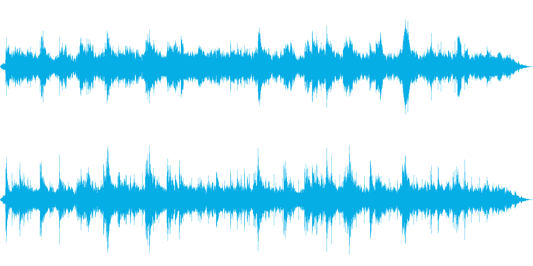 広がりあるアンビエントピアノの再生済みの波形