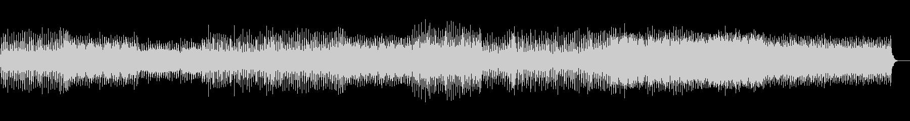 トリッキーで音の広がりがあるテクノの未再生の波形