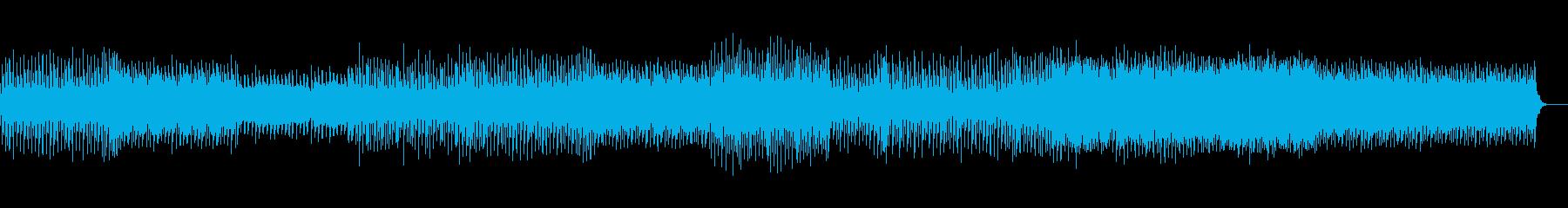 トリッキーで音の広がりがあるテクノの再生済みの波形