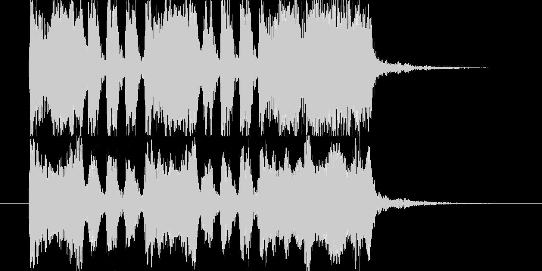 ジングル用BGM(楽しく達成&大成功!)の未再生の波形