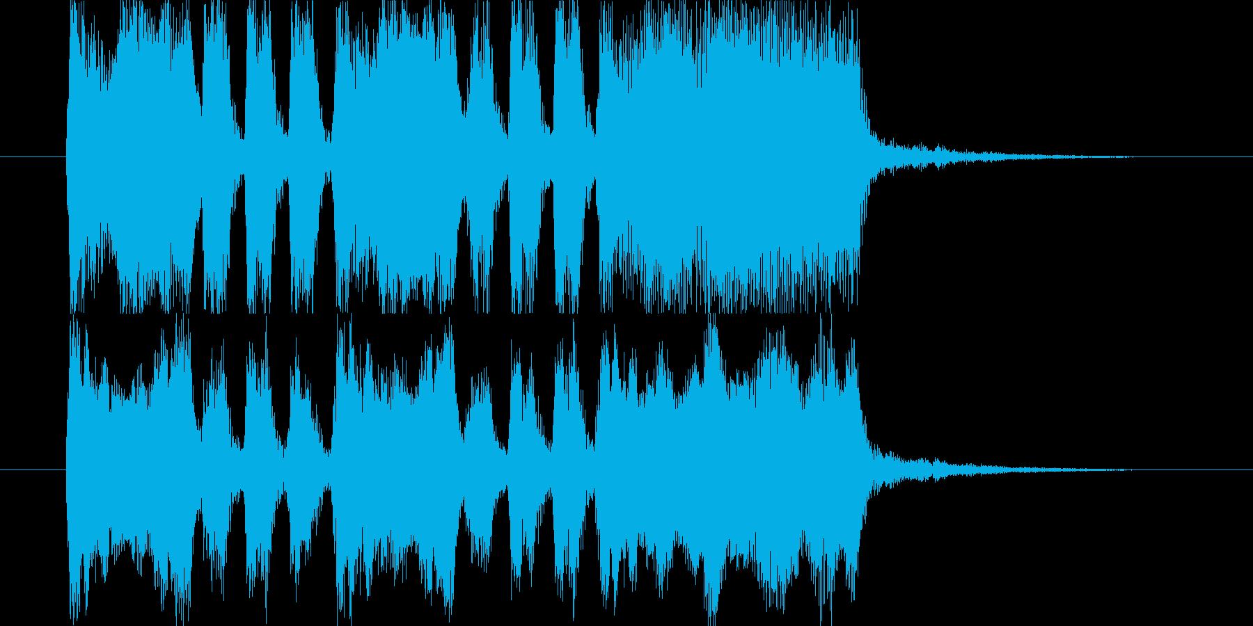 ジングル用BGM(楽しく達成&大成功!)の再生済みの波形