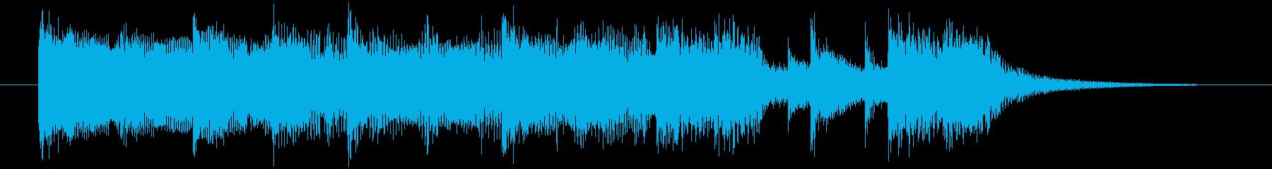 重く迫力あるロックギターメインのロゴの再生済みの波形