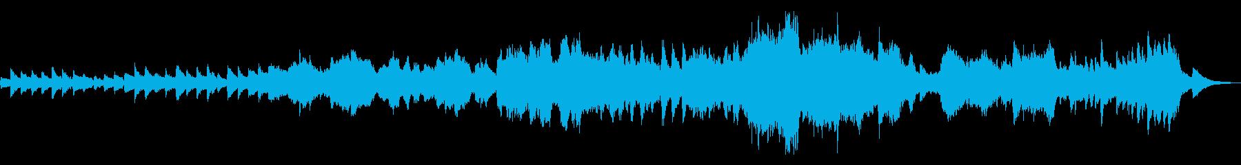 夕暮れ_切ない_ピアノ_オーケストラの再生済みの波形