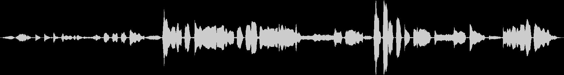 鳴き声 女性歌うジャズインプロ02の未再生の波形