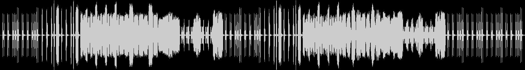 コミカルな動きをする虫をイメージした曲の未再生の波形