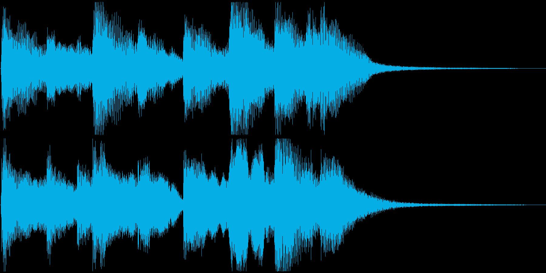 明るく軽い印象のジングルの再生済みの波形