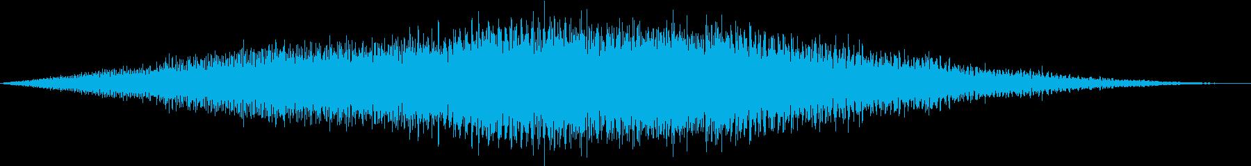 遅い上空を飛ぶプロペラ飛行機の再生済みの波形