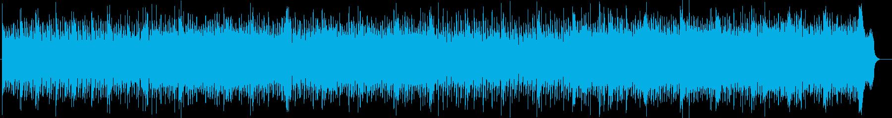 魅惑的なテクノミュージックの再生済みの波形