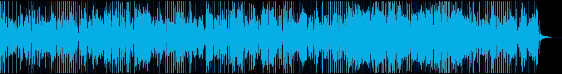 ベースのリフが特徴的でシンプルなファンクの再生済みの波形