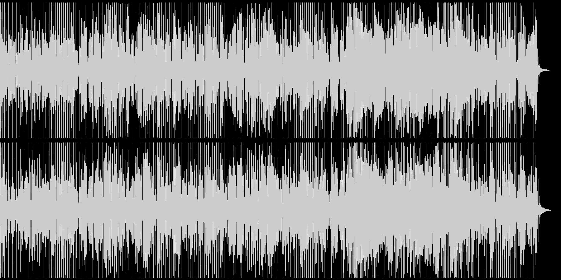 ベースのリフが特徴的でシンプルなファンクの未再生の波形