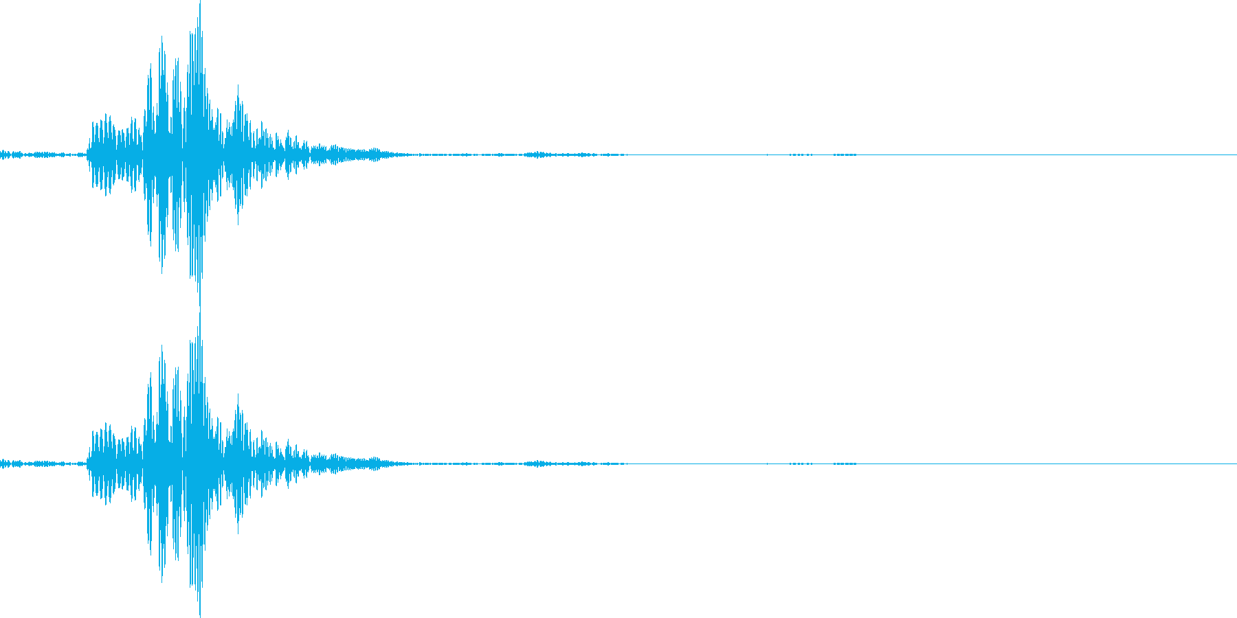 シャッ(アプリ決定音やチャットの送信音)の再生済みの波形