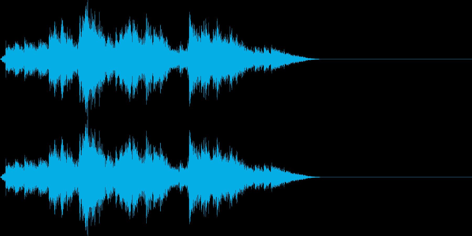 神社の本坪鈴 ガランガランの再生済みの波形