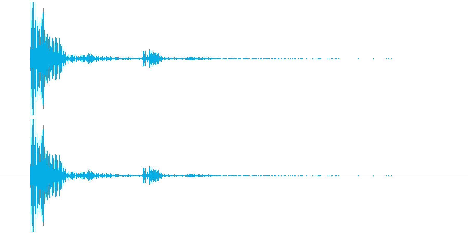 プラスチックのカップを置く音2の再生済みの波形