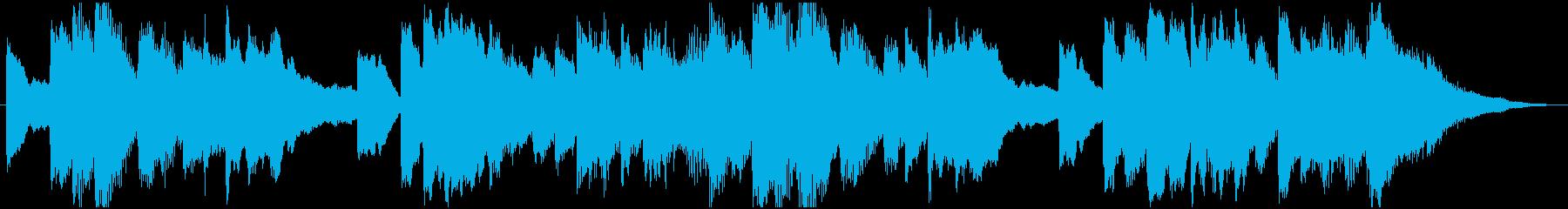 寂しい回想の様な雰囲気の約30秒のBGMの再生済みの波形