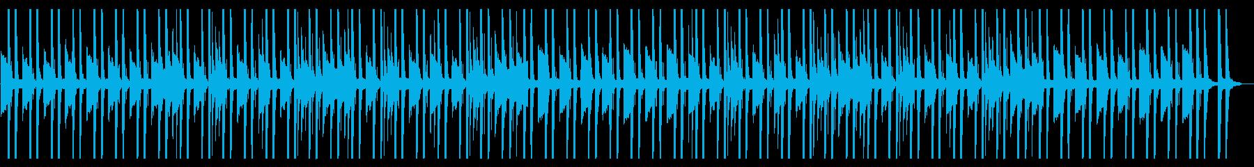 ほのぼのした日常系アニメの会話シーンの再生済みの波形