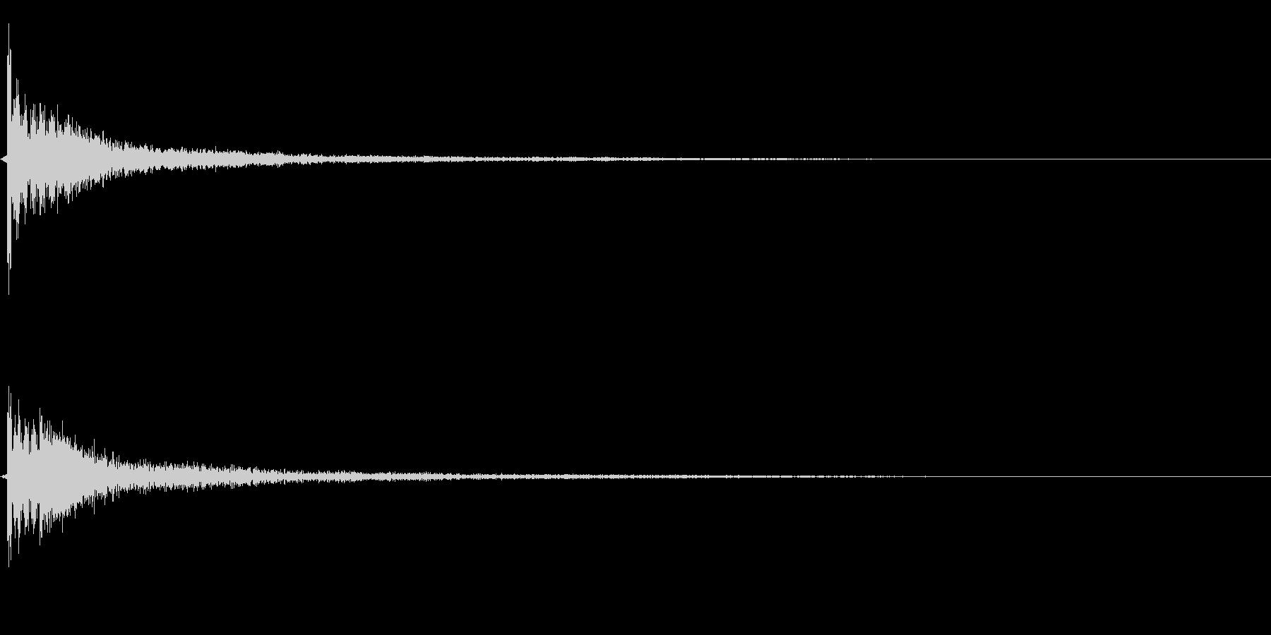 和風ポイント効果音の未再生の波形