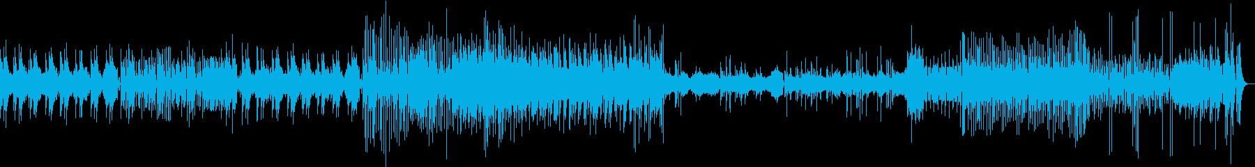 賑やかなお囃子風の曲の再生済みの波形