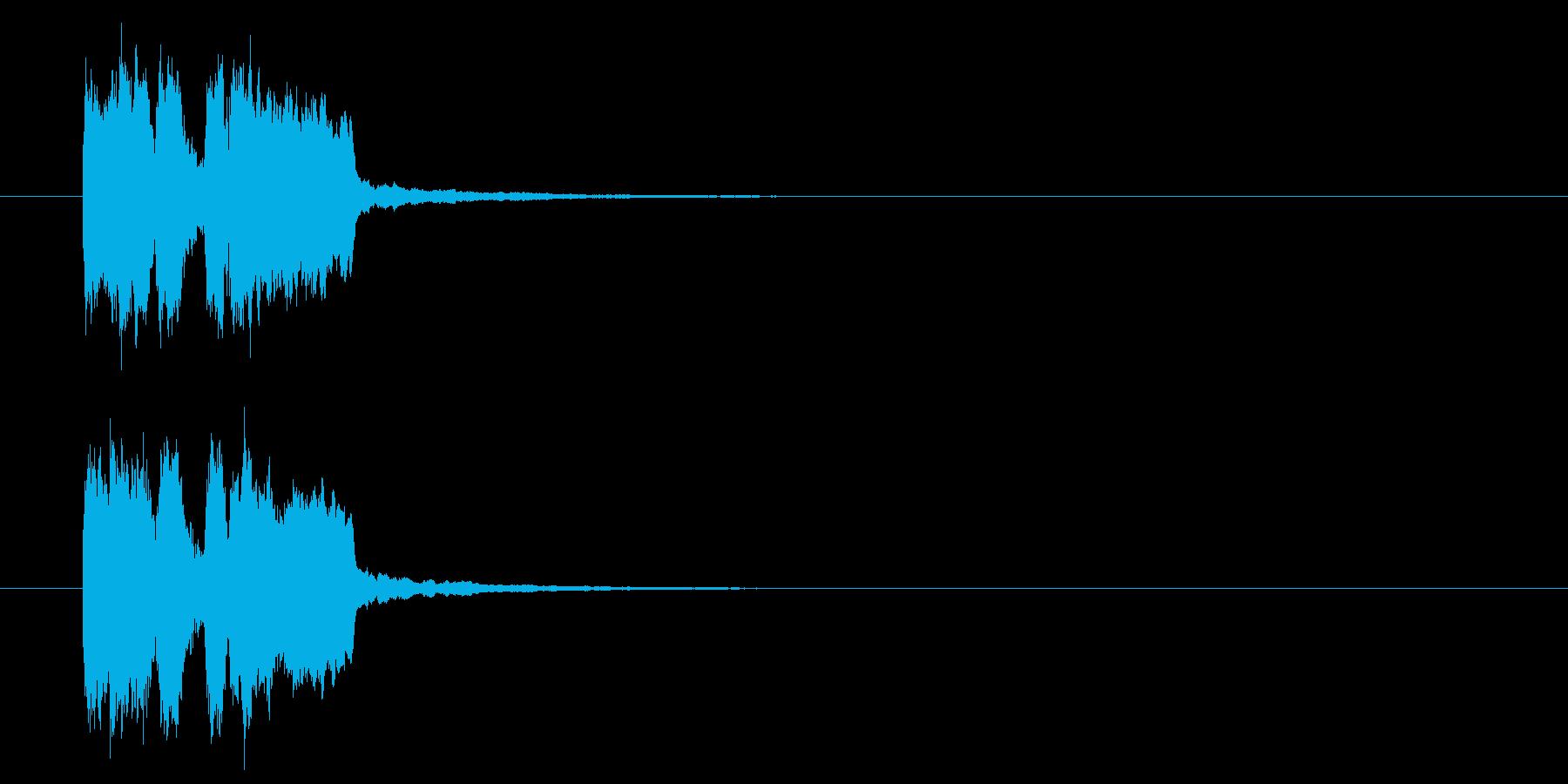 ゲームクリア音・登場音の再生済みの波形