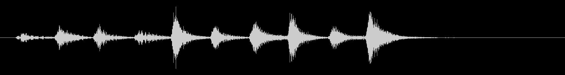 タタタタタタターン(小クリア音)の未再生の波形