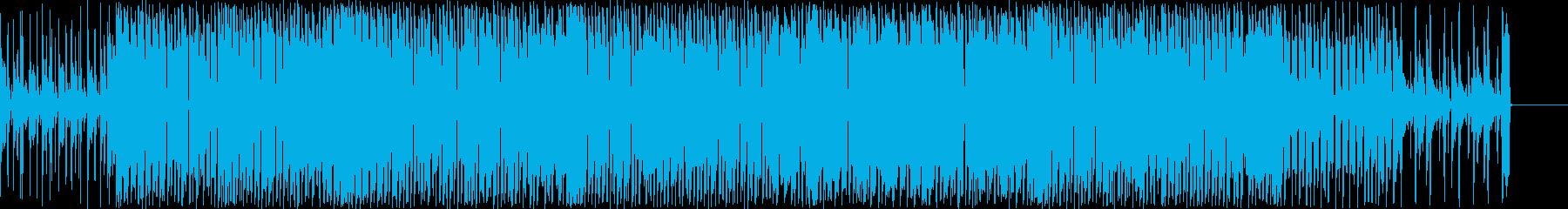 オシャレなコードが印象的なポップスの再生済みの波形