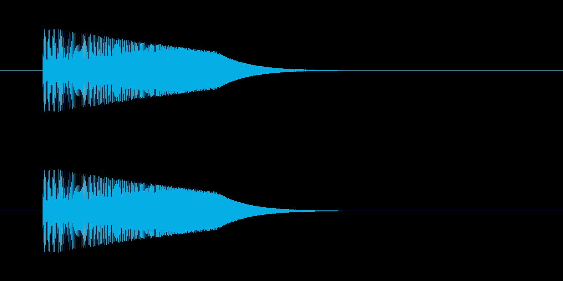 ジャンプするときの音の再生済みの波形