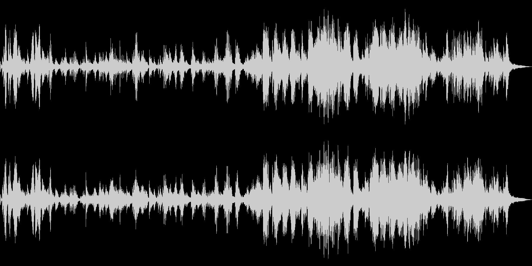 しっとりした和風 ピアノソロの未再生の波形