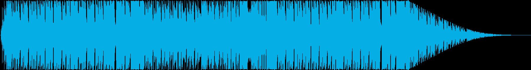 日常系ほのぼの、ブラス&オルガン曲の再生済みの波形