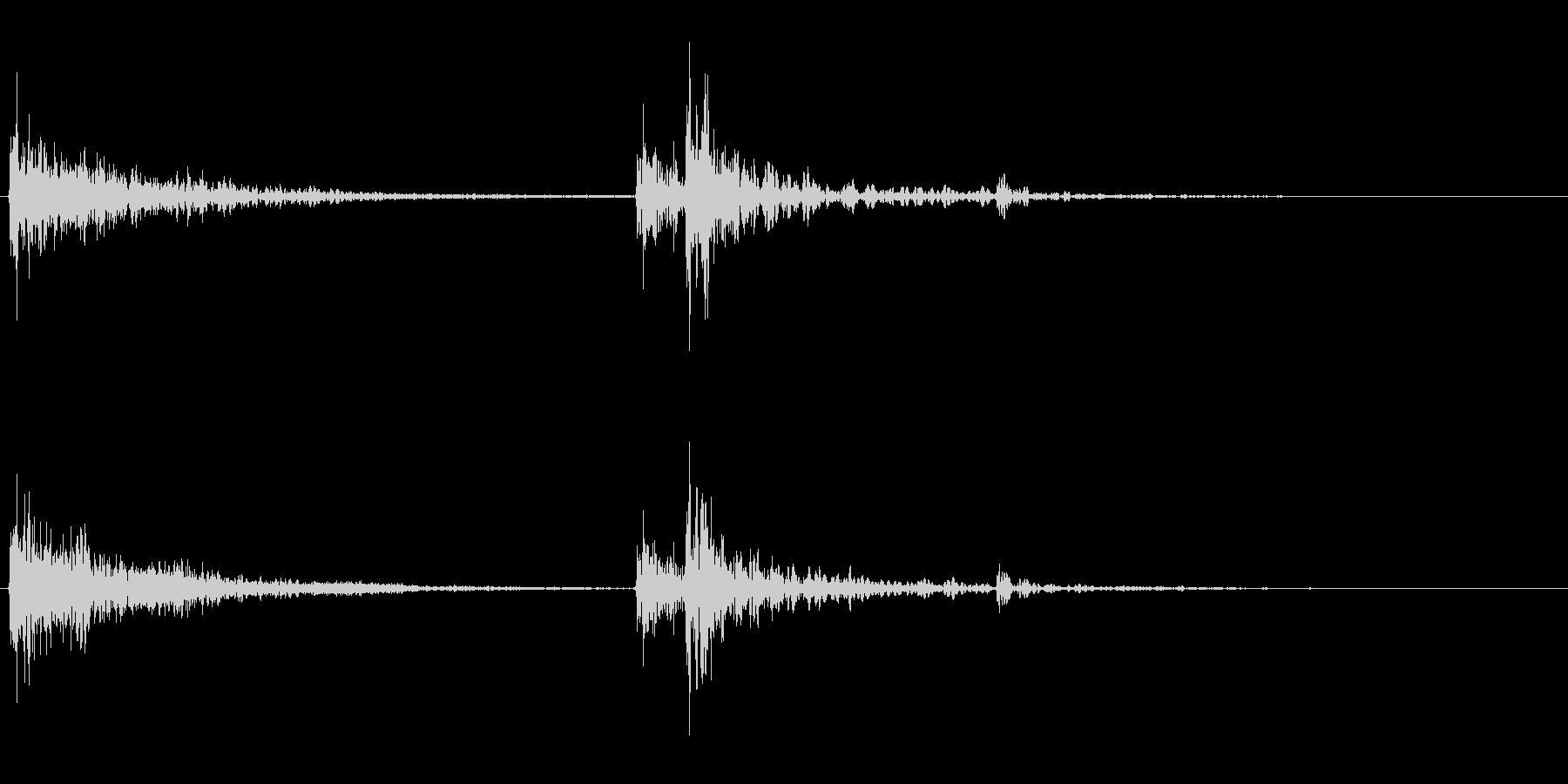 【生録音】ティーポットに蓋をする音の未再生の波形