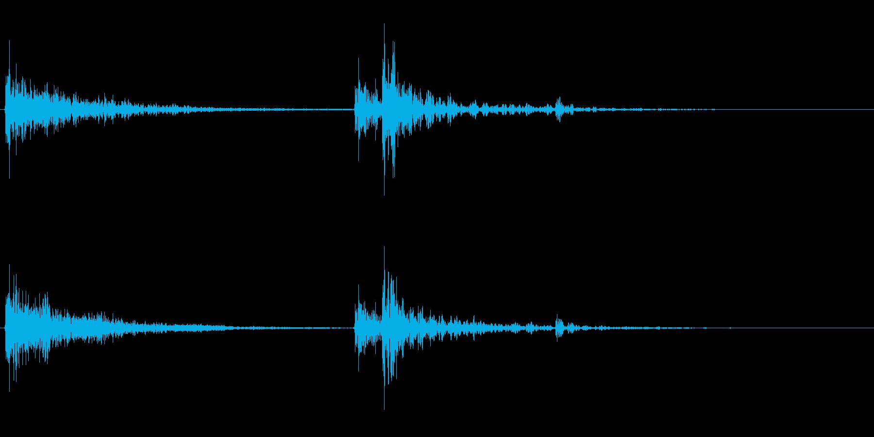 【生録音】ティーポットに蓋をする音の再生済みの波形