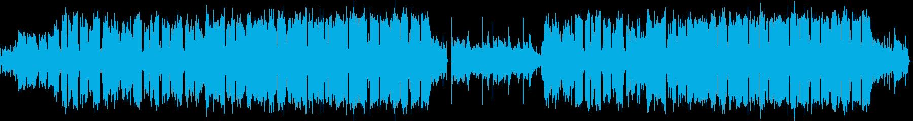 フルートとアコースティックギターゆるい曲の再生済みの波形