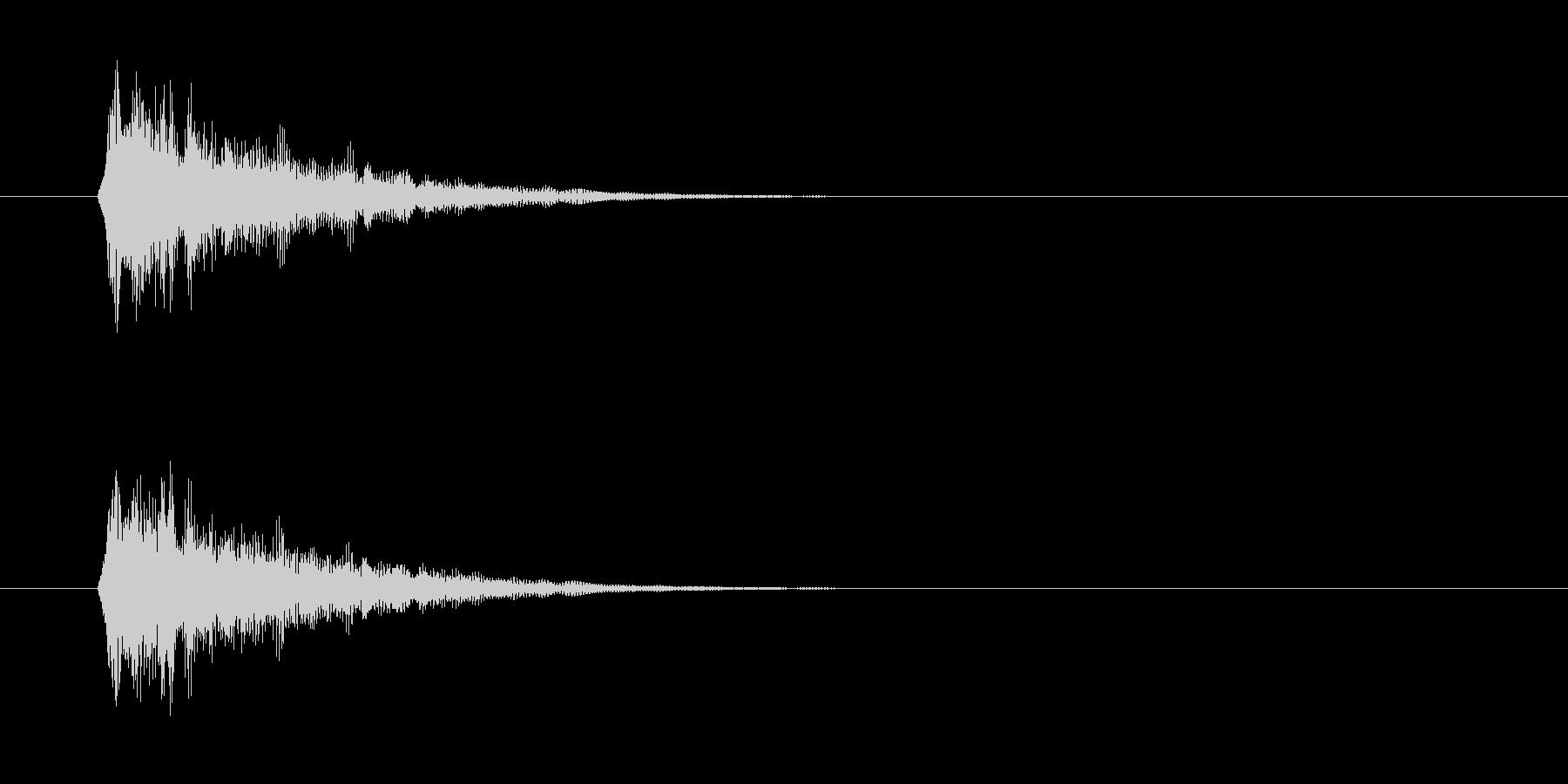 短いボタン音です。OKボタンなど、肯定…の未再生の波形