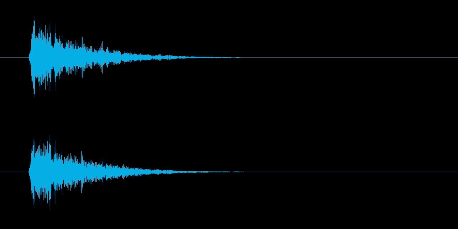 短いボタン音です。OKボタンなど、肯定…の再生済みの波形