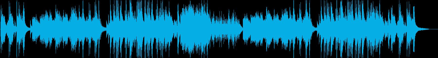 温泉をイメージしたピアノソロインストの再生済みの波形