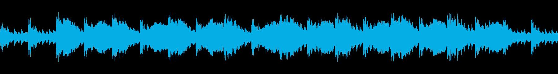 和風のトラブル感のある曲の再生済みの波形