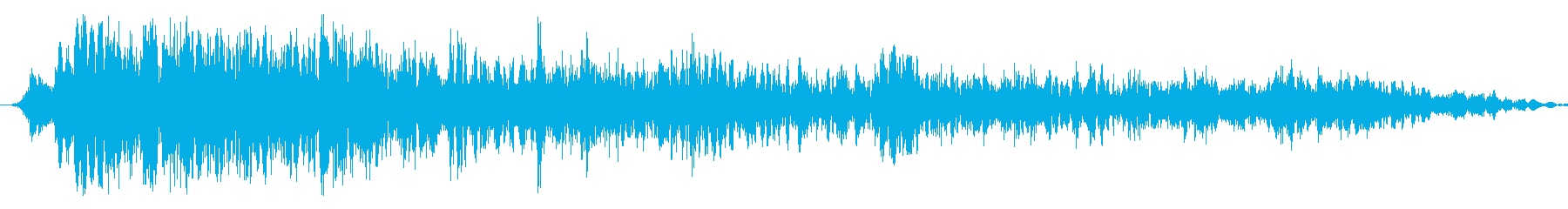 モンスター:ゾンビのうなる音の再生済みの波形