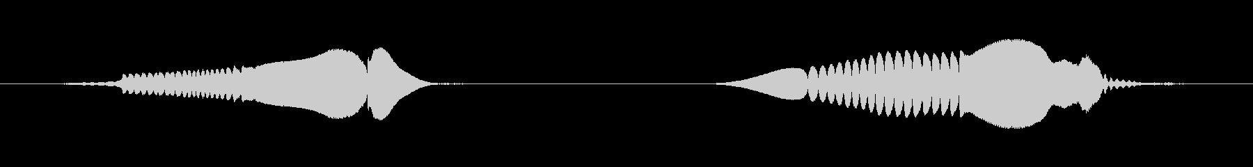 ヒヨコの鳴き声(ピヨピヨ)の未再生の波形