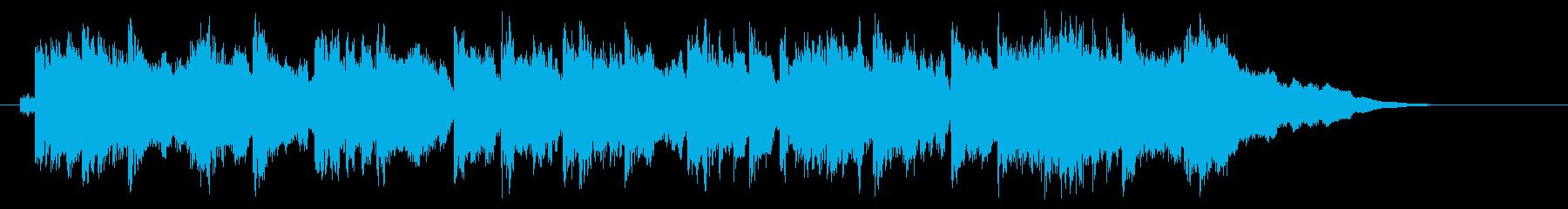 和やかでキレイなリラクゼーション音楽の再生済みの波形
