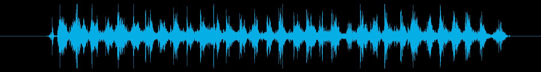 【録音】コインがジャラジャラ混ざる音の再生済みの波形