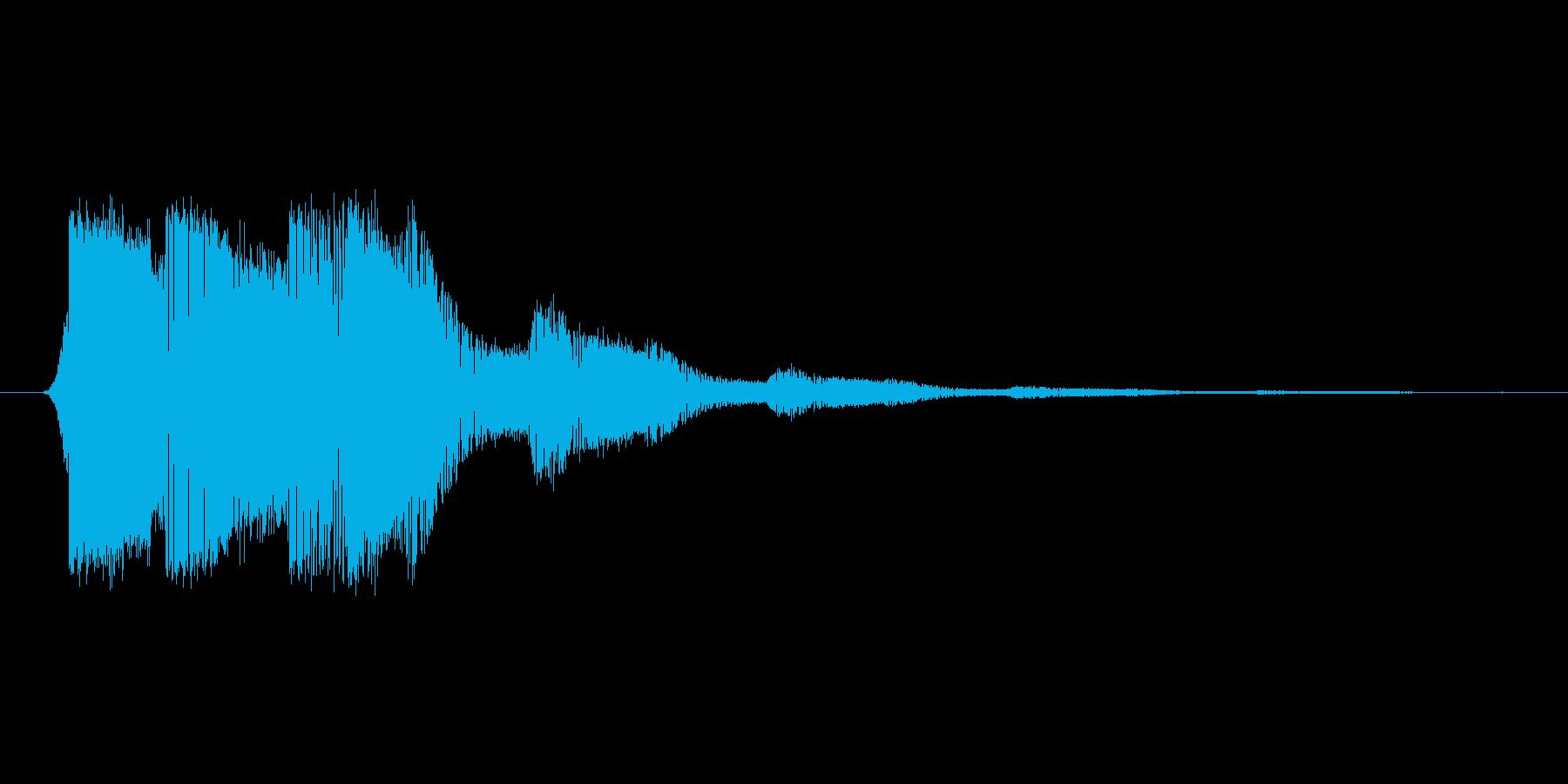 ファミコン風効果音決定音系です 01の再生済みの波形