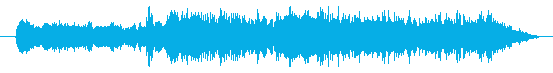 ストリングスのホラー系SEの再生済みの波形
